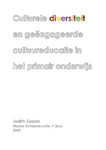 Cover Culturele diversiteit en geëngageerde cultuureducatie in het primair onderwijs